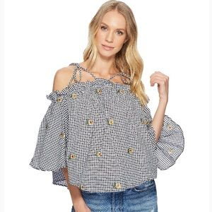 NWT Romeo & Juliet Couture Gingham Top